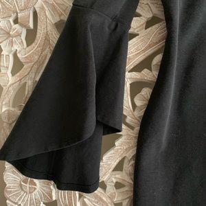 Bell Sleeve Black Dress